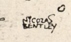 Bentley's signature