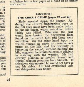 The circus crime solution