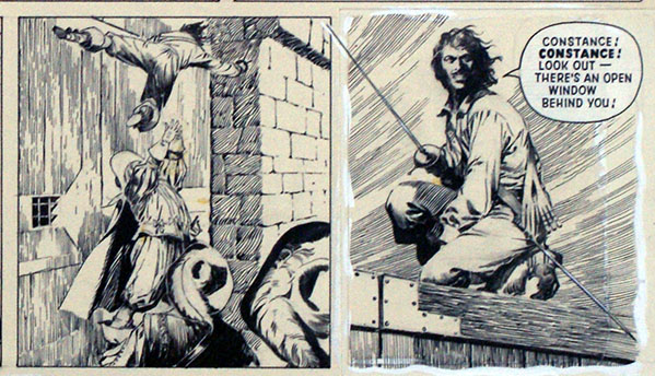 D'Artagnan tries to rescue his love